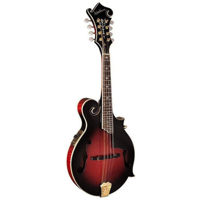 Washburn M3SWE Acoustic Electric All Solid F-Style Mandolin With Case