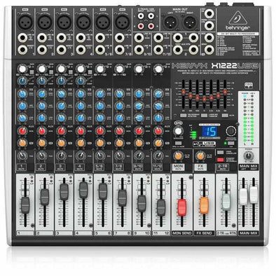 Behringer XENYX X1222USB 16-Input Mixer/USB Interface - Andy's Music