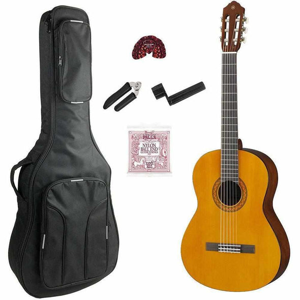 Yamaha C40II Classical Guitar Natural Finish With Bag & Accessories