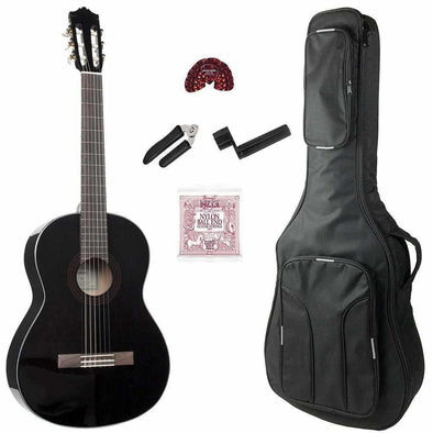 Yamaha C40IIBL Black Classical Guitar With Bag & Accessories