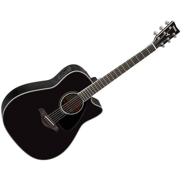 Yamaha FGX830C Solid Top Acoustic Electric Guitar Bundle - Andy's Music