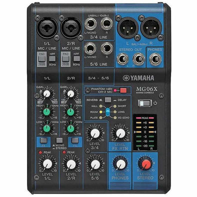 Yamaha MG06X 6-Channel Mixer With Effects
