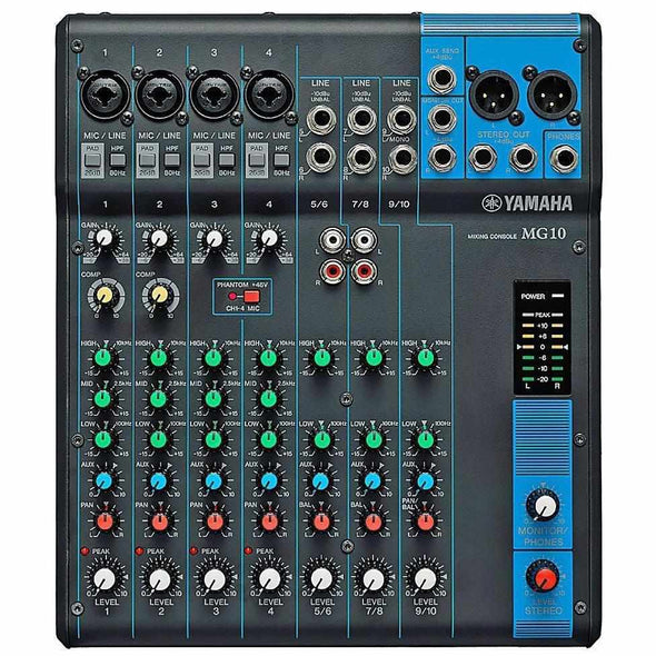 Yamaha MG10 10-Channel Stereo Mixer