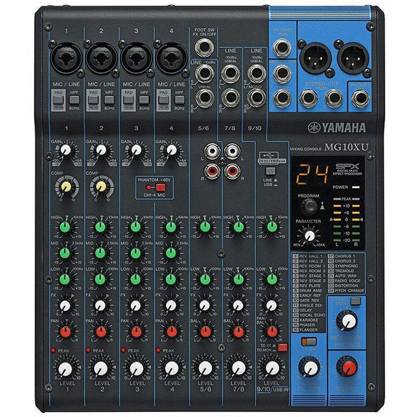 Yamaha MG10XU 10-Channel Mixer With Effects - Andy's Music