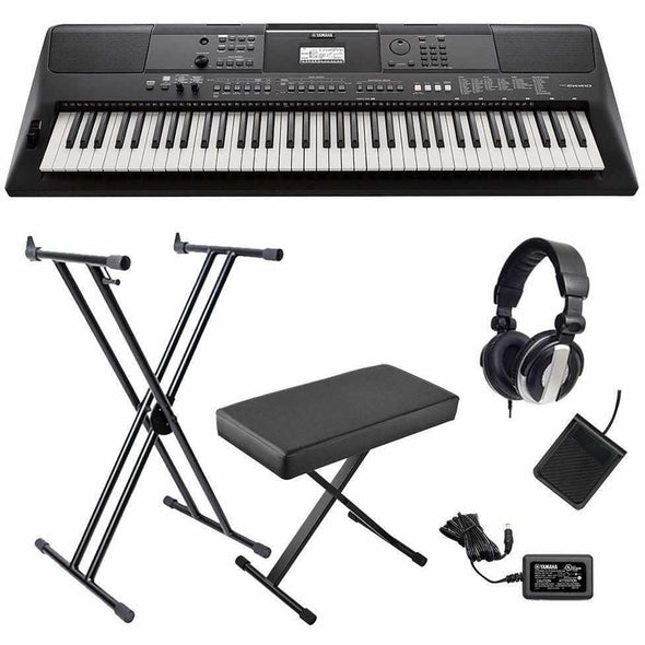 Yamaha PSR-EW410 76-Key Portable Keyboard Bundle - Andy's Music