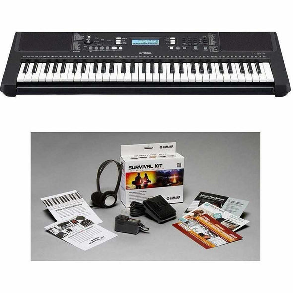 Yamaha PSR-E373 Touch Sensitive 61-Key Portable Keyboard With Survival Kit