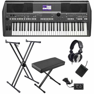Yamaha PSR-S670 Arranger Workstation Keyboard Bundle