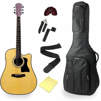 Andreas AEG48 Cutaway Acoustic Electric Guitar With Deluxe Bag & Accessories - Andy's Music