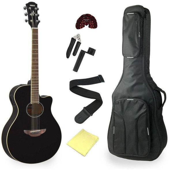 Yamaha APX600 Acoustic Electric Thin Body Guitar Bundle - Andy's Music