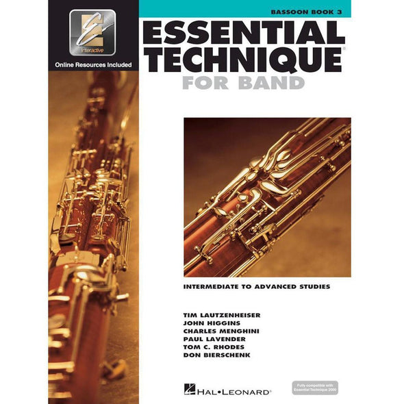 Essential Technique for Band Book 3-Bassoon-Andy's Music