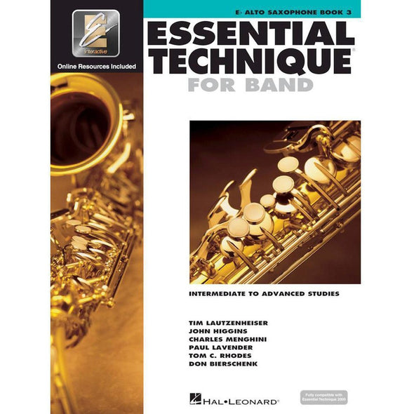 Essential Technique for Band Book 3-Eb Alto Saxophone-Andy's Music