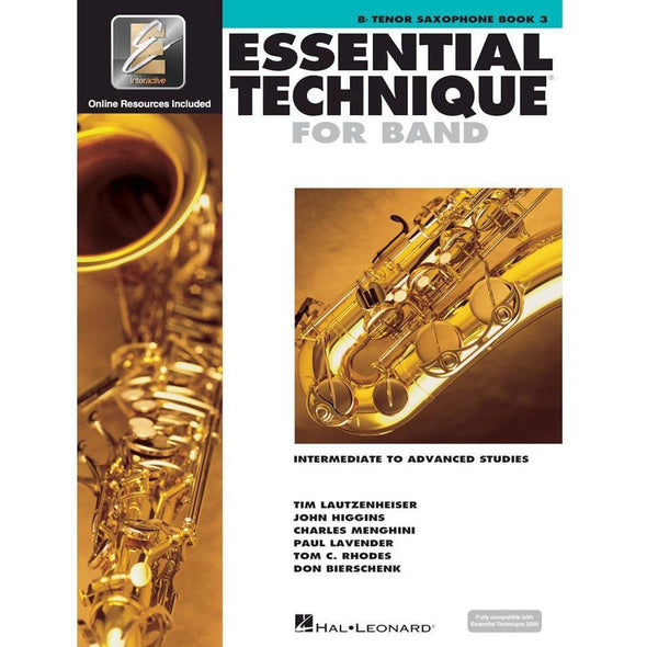 Essential Technique for Band Book 3-Bb Tenor Saxophone-Andy's Music