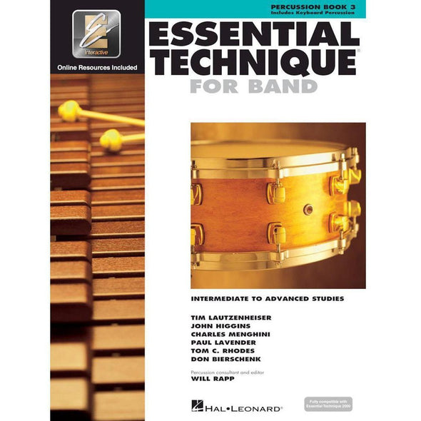 Essential Technique for Band Book 3-Percussion-Andy's Music