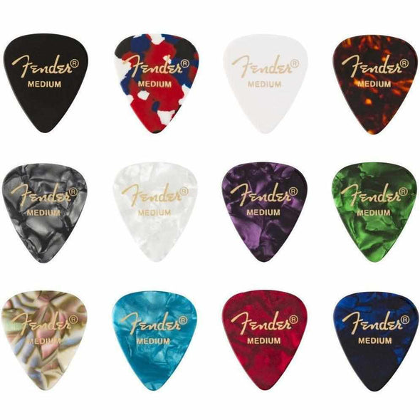Fender 351 Celluloid Medley 12 Picks-Medium-Andy's Music