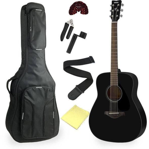 Yamaha FG820 Acoustic Guitar Bundle Black Finish