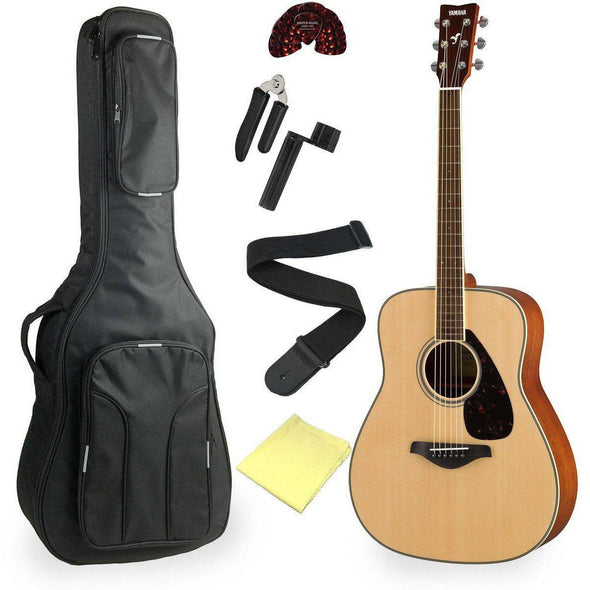 Yamaha FG820 Acoustic Guitar Bundle Natural Finish