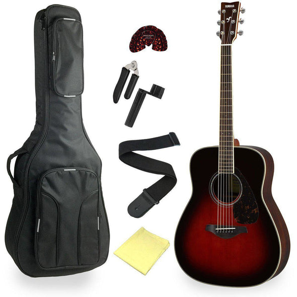 Yamaha FG830 Solid Top Acoustic Guitar With Deluxe Bag & Accessories - Andy's Music
