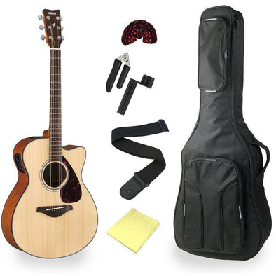 Yamaha FSX800C Acoustic Electric Guitar With Deluxe Bag & Accessories Natural Finish