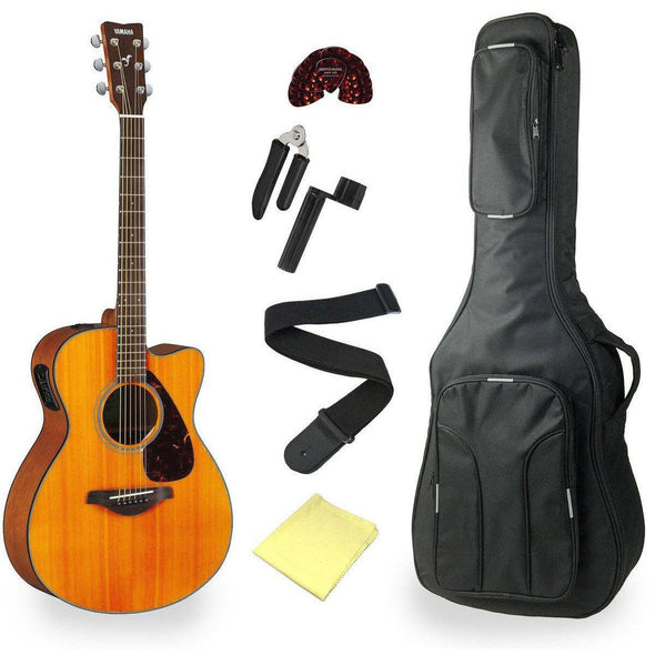 Yamaha FSX800C Acoustic Electric Guitar With Deluxe Bag & Accessories - Andy's Music