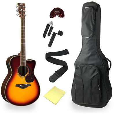 Yamaha FSX830C Acoustic Electric Guitar Pack With Deluxe Bag & Accessories