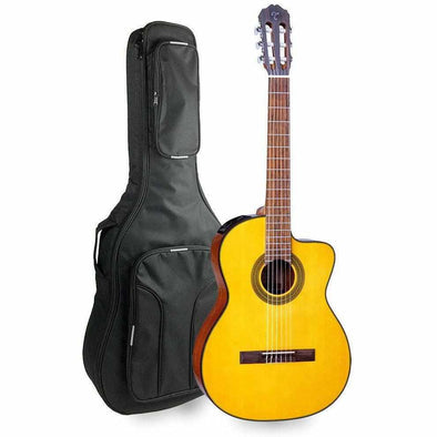 Takamine GC1CE NAT Acoustic Electric Classical Guitar With Deluxe Padded Bag