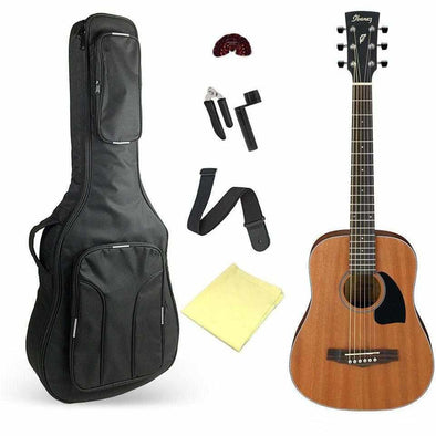 Ibanez PF2MHOPN 3/4 Size Acoustic Guitar With Deluxe Bag and Accessories