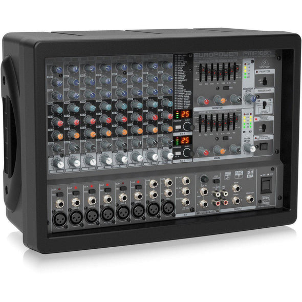 Behringer EUROPOWER PMP1680S Stereo Powered Mixer - Andy's Music