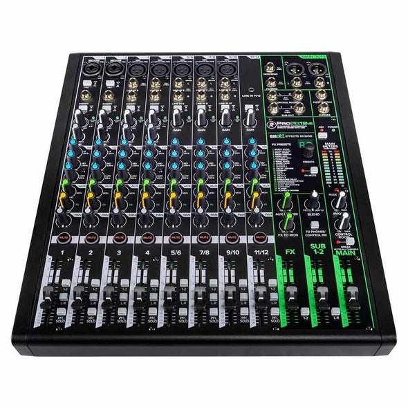 Mackie ProFX12v3 12-Channel Pro Audio Effects Mixer With USB