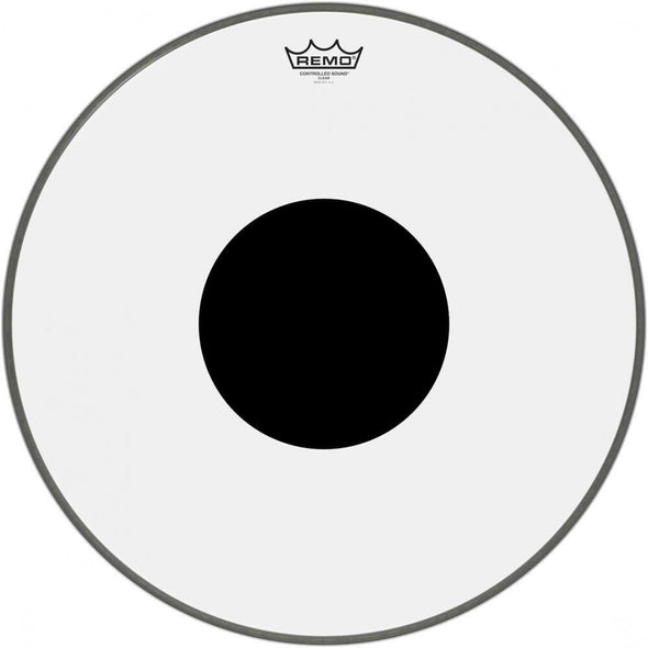 Remo Controlled Sound Clear Black Dot Bass Drumhead-Andy's Music