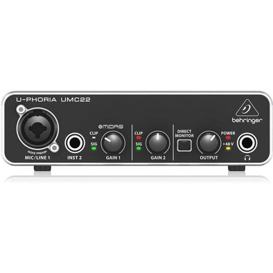 Behringer UPHORIA UMC22 USB Audio Interface 2 In/2 Out - Andy's Music