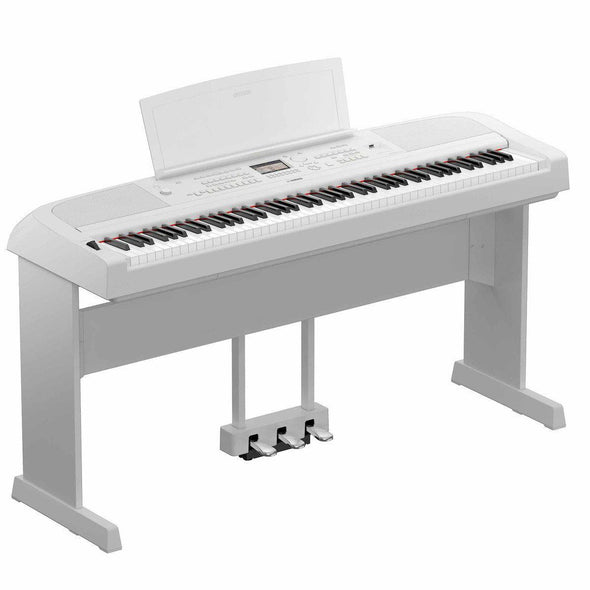 Yamaha DGX-670 Portable Grand Digital Piano-White-With Stand & Pedals-Andy's Music