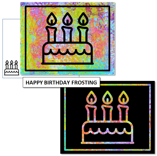 BIRTHDAY CAKE FROSTING - mix & match