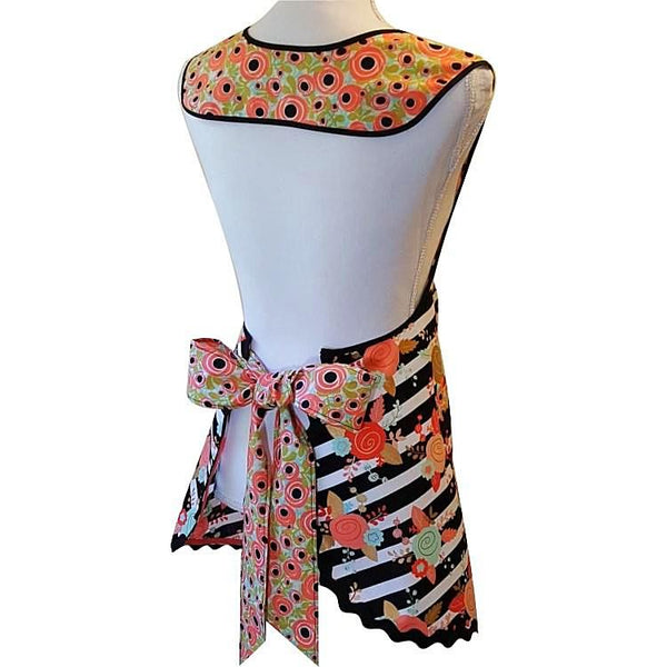 Jaci - Roses and Stripes Apron