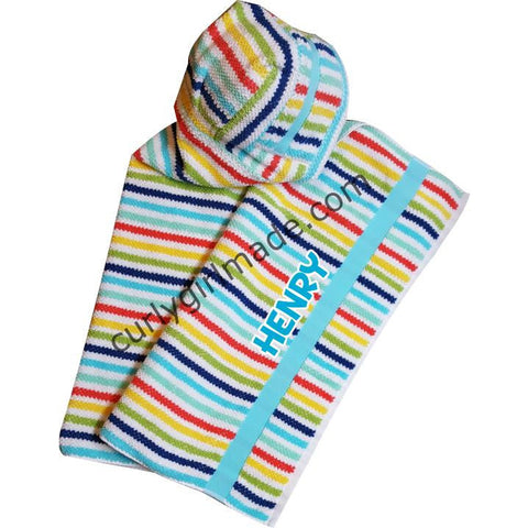 Henry - Bright Primary Color Baby Bath Towel