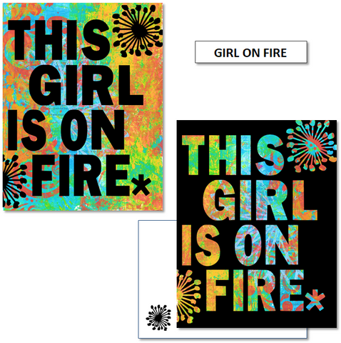GIRL ON FIRE - mix & match