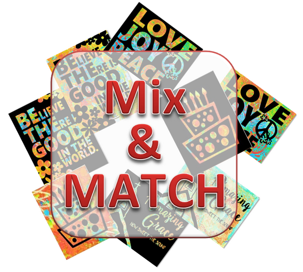 1. MIX & MATCH (Save choose 4 sets/$20.00)