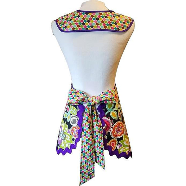 Mary Lois - Purples and Paisleys Apron