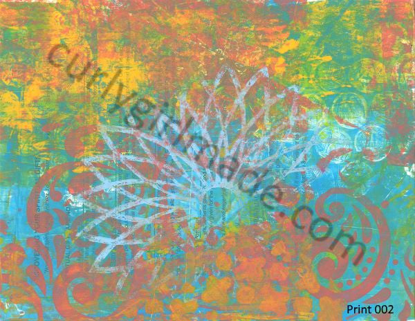 Boho Background 002 - Journal page, mixed media, instant download
