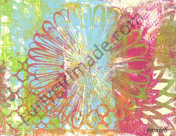 Boho Background 005 - Journal page, mixed media, instant download