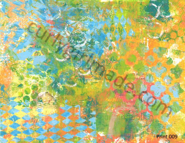 Boho Background 009 - Journal page, mixed media, instant download