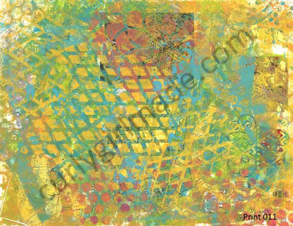 Boho Background 011 - Journal page, mixed media, instant download