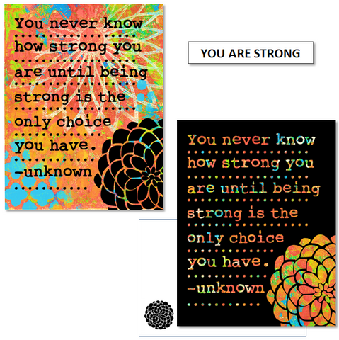YOU ARE STRONG - mix & match