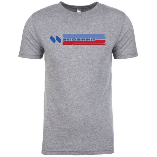 Adult (Unisex) SNÖBAHN Red and Blue Short Sleeve T-Shirt