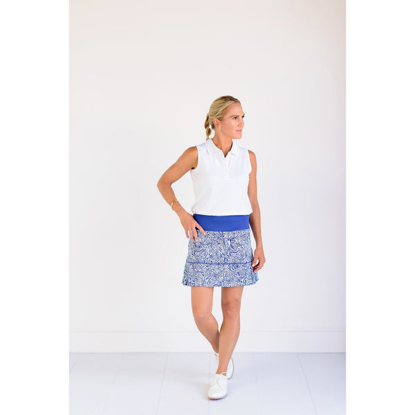 Pleated Par Skort- Leopard Links