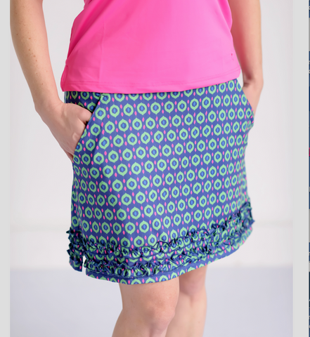 Round of Ruffles Skort- Color Pop