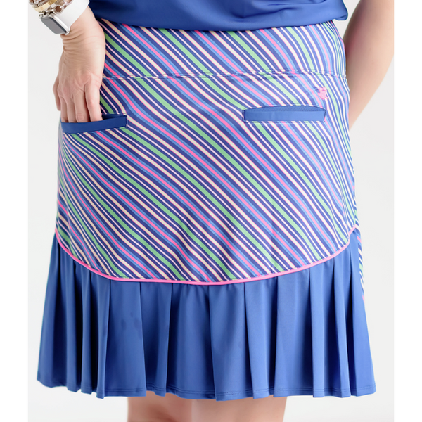 Around Course Accordian Skort-Color Pop-PRE ORDER ONLY!