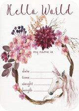 Mystical Unicorn Announcement Card
