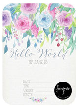 Floral Pop Announcement Card