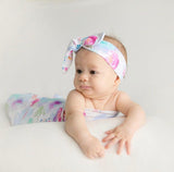 Sweet Petal Wrap Blanket & Topknot