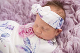 Lilac Skies Wrap Blanket & Topknot